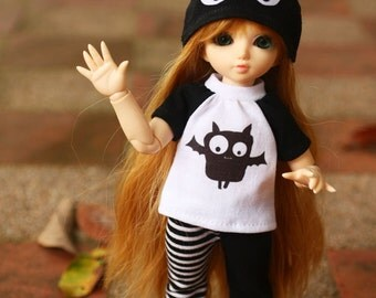 E062 - Yosd / 1/6 bjd Outfits (T-shirt , pants and hat)