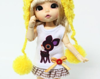 D005 - Lati yellow /pukifee outfits (dress and hat)