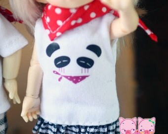 B151 - Lati yellow / pukifee outfits (Panda Dress, socks and Scarf)
