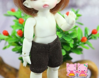 A014 - Short  pants for lati White Sp / pukipuki / felix brownie doll (Brown)
