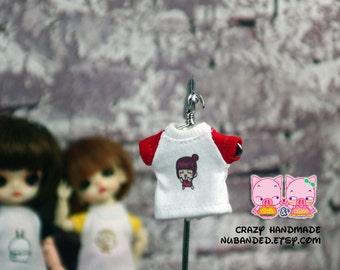 T-shirt for lati white Sp / pukipuki / felix brownie doll / obitsu 11 cms.