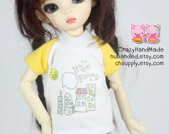 E004 - T-shirt and short pants for 1/6 bjd