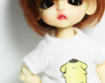 A021 - lati White Sp / pukipuki / felix brownie doll Outfits (T-shirt and short pants)