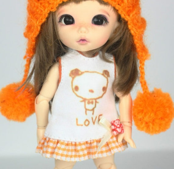 D016 - Lati yellow / Pukifee outfits (dress,hat and socks)