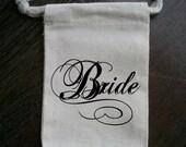 Bride / Bridal Shower Muslin Gift Bag