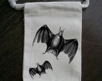 Bats Halloween Party Muslin Favor Bag