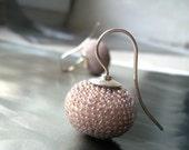 beige rose brown earrings
