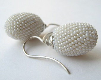pearly  earrings beads wedding present