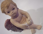 vintage hand painted angel