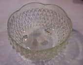 a vintage small glass bowl
