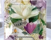 BLOOM... botanical decor decoupage plate