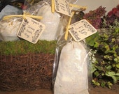 All Natural SUDZY organic Herbal Bath Bag with dried Herbs including Lavender, Calendula and Roses plus Organic Handmade Soap
