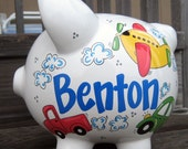 Large-Custom Personalized Piggy Bank-Transportation