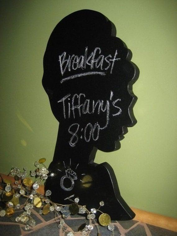 Audrey Hepburn (Holly Golightly) Silhouette Chalkboard