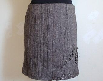 brown wool skirt, SALE reg. 69