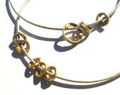 Floating Elements and Simple Silver Bangle
