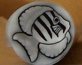Polymer Translucent Convict Tang Fish Clay Cane Canes