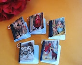 Miniature Book Charms Little Red Riding Hood Theme Set of 5