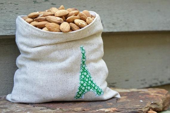 4 Reusable Paris Sandwich Snack Bags FREE CHRISTMAS GIFT WRAP