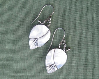 Little Flower Bud Earrings - Sterling Silver - Free Shipping