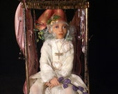 RESERVED for IMANFORD   final balance due OOAK sculpted art doll      Lyvia, Queen of the Wildflower Sprites