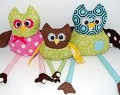 Hoot Owl Family--Made to Order