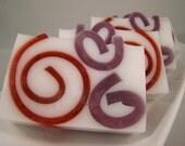 Pomegranate Swirl Shea Butter Soaps (2 Pack)