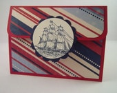 Masculine Gift Card Holder-Sailing Father's Day