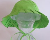 Solid Lime Green Toddler Sun Hat