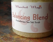 Balancing Blend Aromatherapy Sea Salt Scrub HUGE 20 OZ. JAR