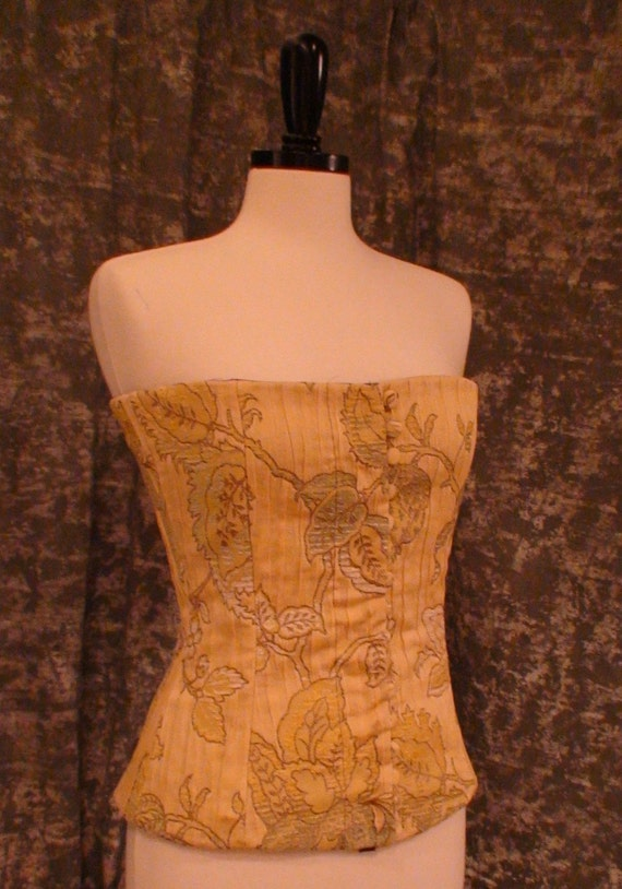 Antique Leaves Corset RESERVED FOR CONVERYJ