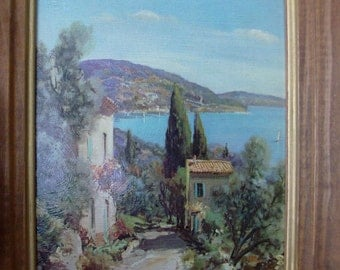 60s Framed Winding Shore Print