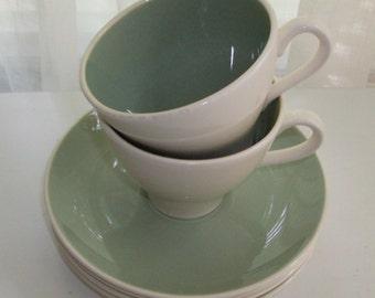 Harkerware Gray-Green Two For Tea Set