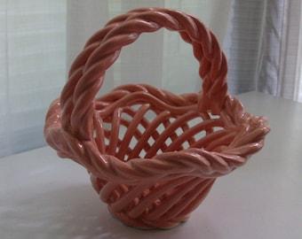 Peachy Pink Little China Basket