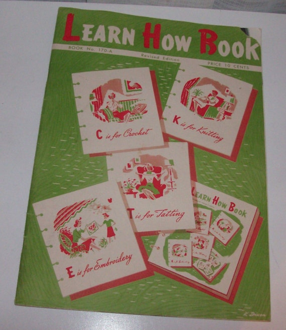 1950 Learn How Book Pattern Book