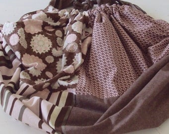 The Gypsy Tote  Bag...pretty in pink and chocolate brown SALE