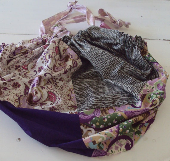 The Gypsy Tote  Bag...in purple, lavender, green, brown SALE