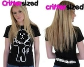 PIF (Pay it Forward) Cute Black T-Shirt with Emo Lion - Crittersized Slogan