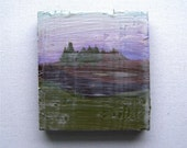 Pacific Northwest - Miniature Encaustic Painting