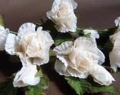 Champagne Roses, silk flowers, WEDDING, crafts, Christmas tree or wreath