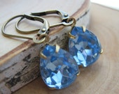 Beautiful Periwinkle Blue Estate Style Earrings - Reserved for Jenn-