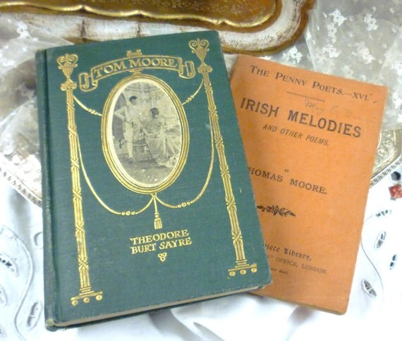 c late 1800's two books of ireland's thomas moore