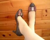 Vintage Grey Heels with Bows