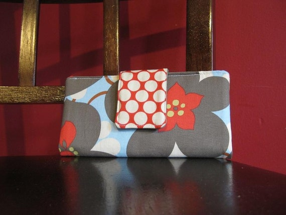 Must have wallet - Morning Glory in Linen, Amy Butler