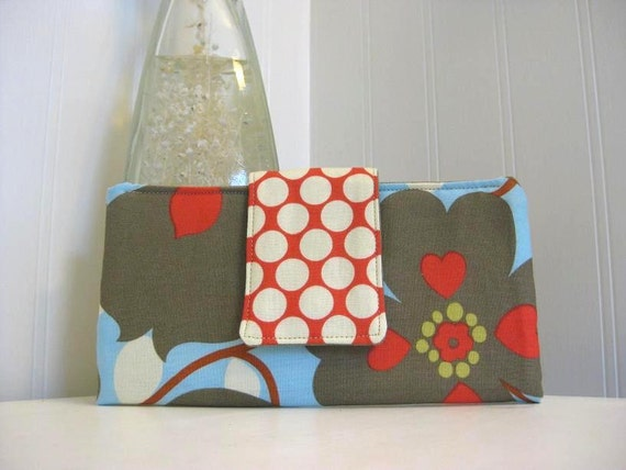 Must have wallet - Morning Glory in linen
