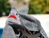 Hooded Shark Towel Embroidered Name