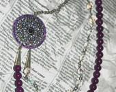 Starry Eyed Fuchsia Necklace