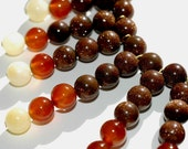 Cleopatra Beaded Yellow Jade, Carnelian, and Gold Stone Necklace