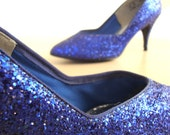 Blue Glitter heels, 10