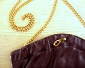 Leather Zenith Purse Gold chain strap